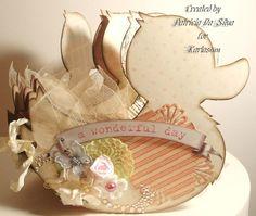 Handmade Shabby Chic Duckling Album