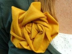 Messy fabric flower by wilma