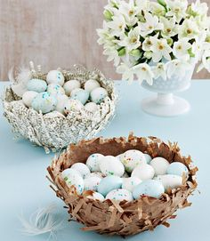 View Larger View Thumbnails Feather your nest with papier-mâché Read more: Easter Crafts for Kids - Easy Easter Craft Ideas for Kids - Country Living Spring Crafts, Holiday Crafts, Holiday Fun, Easy Easter Crafts, Easter Crafts For Kids, Easter Decor, Easter Ideas, Easter Centerpiece, Easter Stuff