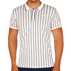 adidas New York Striped Polo Herren - Weiß, Dunkelblau