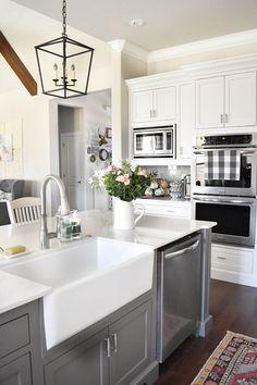 Island Kitchen With Sink chrome hardware. kitchen chrome hardware ideas. kitchen cabinet