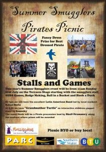 Rottingdean Smugglers and childrens charity, PARC, are putting on a day of activities in Rottingdean on Sunday 21st July on the seafront Terraces.  http://www.rottingdeanvillage.org.uk/summer-smugglers-pirate-picnic-11am-4pm-sunday-21st-july-rottingdean-terraces