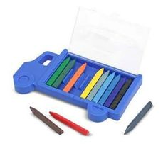 "Truck Crayon Set: Children can develop their creative abilities at ""top speed"" with this truck-shaped travel case full of colorful cargo! The triangular, non-roll design makes the 12 durable crayons easy to organize and a pleasure to use. The flip-top case makes this crayon set ideal for imaginations on the go. Part of Melissa & Doug's Art Essentials for kids--a thoughtful line of art supplies designed by parents and beloved by creative kids. *Perfect stocking stuffer!"