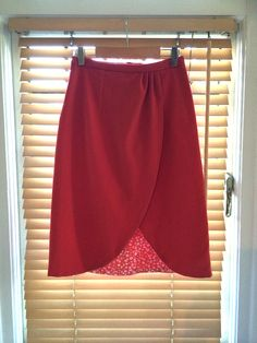 Pattern hacking Kim - A fully lined faux-wrap skirt – By Hand London