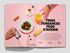 Elior Group — Rapport d'activité – Content Design Lab Design Lab, Food Design, Magazine Contents, Annual Report Design, Magazine Layout Design, Food Concept, Editorial, Design Graphique, Flat Illustration