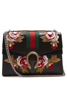 fcc47c722e9f GUCCI Dionysus floral-embroidered leather shoulder bag Gucci Handbags,  Gucci Bags, Buy Gucci
