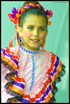 as a little girl i used to Mexican folk dance