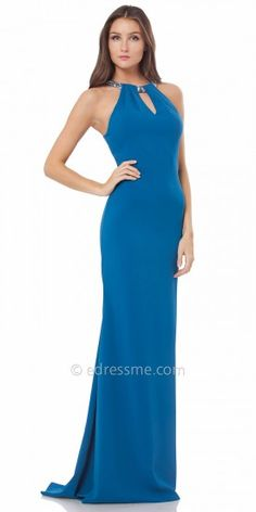Keyhole Choker Evening Gown by Carmen Marc Valvo Infusion #edressme