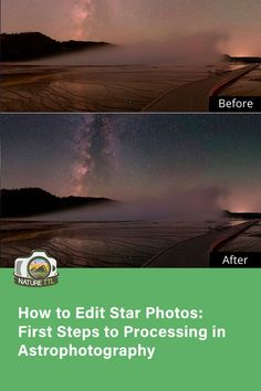 How do you post process star photos? In this tutorial our astrophotography expert teaches you how to edit your star and nightscape photos!   #NatureTTL #Lightroom #PostProduction#astrophotography #edit #editing #photos #space #star #milkyway #astro #astrophotography #starphotos Landscape Photography Tips, Photography Basics, Photography Tips For Beginners, Underwater Photography, Night Photography, Photography Tutorials, Macro Photography, Photography Photos, Travel Photography