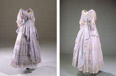 Lyslilla kjole med slæb, 1916 - Nationalmuseet