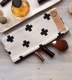 Modern Cross Canvas Clutch | $25