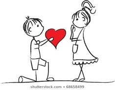 Similar Images, Stock Photos & Vectors of collection set of cute couple doodle with hearts - 386179042 Cute Love Pictures, Cute Love Memes, Love Images, Art Drawings For Kids, Cartoon Drawings, Cute Drawings, Happy Birthday Tag, Smile Wallpaper, Love Doodles