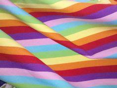 Amazing 7 Color Electric Ice Rainbow Cotton by funkaliciousfabrics, $12.00