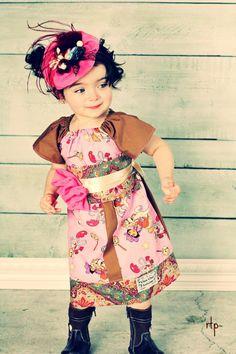 Dora the Explorer Cow Girl peasant style  birthday w sash dress boutique Dora the Explorer Dress ooak.