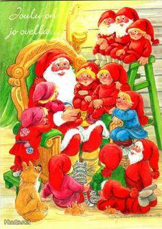 Marja-Liisa Pitkäranta Christmas Eve, Christmas Cards, New Year Postcard, Christmas Illustration, Grinch, Elves, Troll, Illustrators, Roots