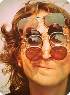 John Lennon with sunglasses