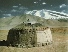 ancient yurt | The ideal building- entirely natural materials and portable so minimal ...