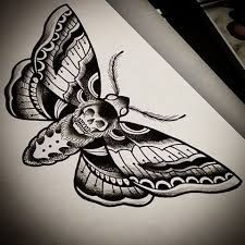 Image result for dead head moth tattoo