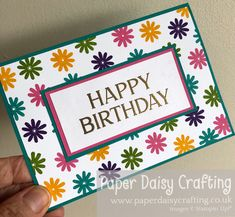 The stamp set that just keeps giving! Another example of how versatile the Celebrate with Flowers is! #celebratewithflowers #cardmakingforbeginners #stampinup #paperdaisy #handmadecard #tutorial #youcanmakeit #papercrafting #lovestamping #beingcreative #simplestamping #greetingscards #cardmaking #papercrafts #crafting #cardmaker #stamps #stamping #rubberstamping #diecutting Paper Daisy, Beautiful Handmade Cards, Card Maker, Stamping Up, Small Flowers, Thank You Gifts, Stuff To Do, Cardmaking, Card Stock