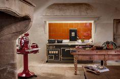 Cuisine d'époque dans un château en Provence