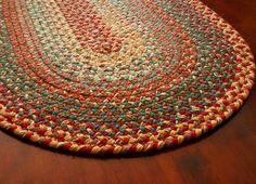 Braided rug - Terracotta Multi