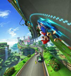 Mario Kart 8 (Wii U) Artwork - Race Scenery