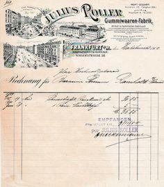 6xxxx Frankfurt - Julius Roller. Gummiwaaren-Fabrik. 1900 (Neues) - Die Bücher-Berg - Preiswerte Bücher für Leser und Sammler