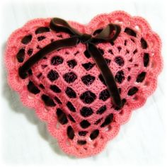 Pin Cushion and Card Crochet Patterns and Tutorial