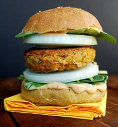Moroccan Chickpea Burgers, vegan and fat-free
