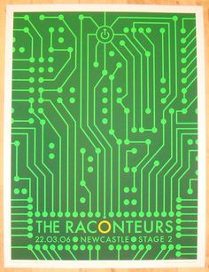 The Raconteurs - silkscreen concert poster (click image for more detail) Artist: Rob Jones Venue: Stage 2 Location: Newcastle, UK Concert Date: 3/22/2006 Edition: signed and numbered out of 199 Size: