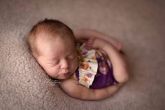 Newborn girl romper with ruffles Mia photography by adorableprops
