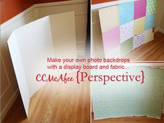 How to Make a DIY Backdrop for headshots/baby portraits! May use this one day! :)