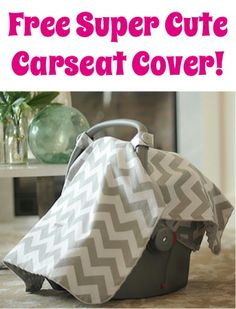 FREE Super Cute Carseat Cover! {just pay s/h} ~ these make such FUN gifts, too! #canopy #carseatcanopy #thefrugalgirls