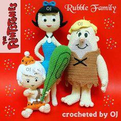 #ShareIG #crocheteddoll #crochetaddict #designedbyoj #amigurumiaddict #amigurumi #crocheting #crochetoftheday #crochetgeek #haken #haekeln #Flintstone #betty #bettyrubble #Barney #barneyrubble #bammbamm