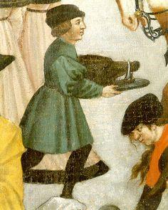 Herbst:November - Marktszene: Junge mit Eberkopf (market scene - boy with boar's head)