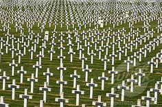 La Targette - british 1st ww cemetery Pas - de Calais. Somme valley. France