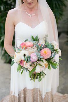 Colorful bridal bouquet | Kaysha Weiner Photographer