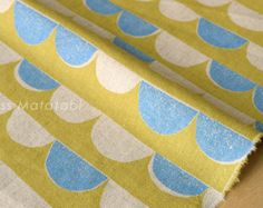 Japanese Fabric - Bunting canvas - C - fat quarter