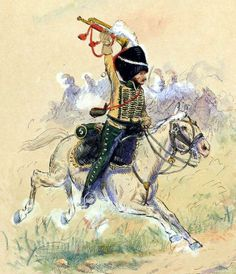 Trumpeter, Elite Company, 5th Chasseurs a Cheval 1807 by E. Fort.