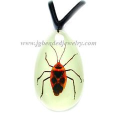Glow In The Dark  Insect Key Chain Bug Keychain  Golden Winged Stag Beetle