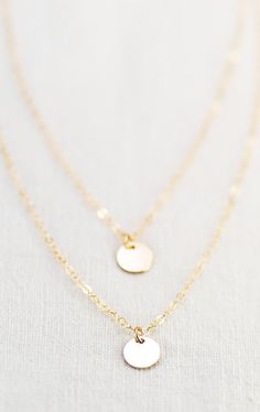 Aniani necklace - double layered 14k gold filled disc necklace, http://www.etsy.com/listing/104979953 kealohajewelry Maui, Hawaii