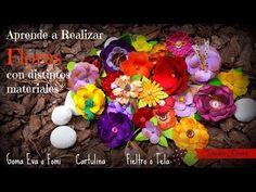 Flores con Foami o Goma Eva, Cartulina y Tela para tus Manualidades Scrapbook 3 - YouTube