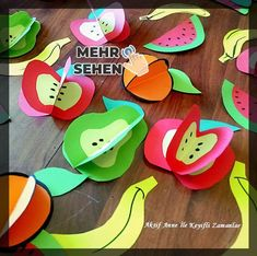 Attitudes Investment and Local Produce Week boards, materials, Turkey map . Projects For Kids, Crafts For Kids, Arts And Crafts, Paper Crafts, Diy Home Crafts, Creative Crafts, Fruit Crafts, Fruit Of The Spirit, Lokal