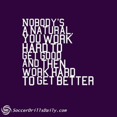 Talent may be a good springboard, but greatness comes from hard work alone!