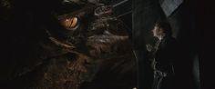 """Smaug and Bilbo, """"The Hobbit: The Desolation of Smaug""""."""