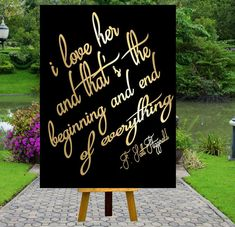 PRINTABLE i love her ,Gatsby party decoration, Roaring 20s Art deco,Wedding Sign, Wedding Decor, Gatsby Quote