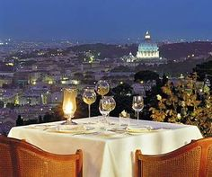 Rome Cavalieri, The Waldorf - Astoria Collection.  The most amazing dinner with the best view in all of Rome.