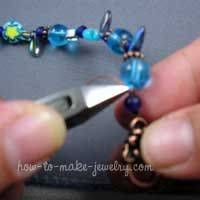 How to string beads & put on a clasp.   She does not mention leaving wiggle room for the clasp - but nice pictorial. #beading #tutorial