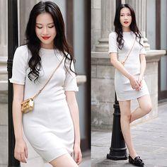 Rosa - Larmoni Knit Dress - White