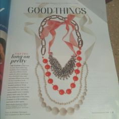 Great idea for DIY necklace! (& layering them) courtesy of Martha Stewart living (burcu avsar)!  For romantic look, Tie a ribbon to both ends of a short necklace (or a doubled long one), & snip ribbon to tie bow. For a modern look, attach a heavy chain to a beaded necklace: hook the necklace's clasp to one end of the chain & then using needle-nose or jewelry pliers, twist open the link at the other end of the chain. Connect it to the necklace, and twist it shut again.